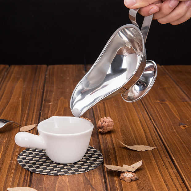 Stainless Steel Sauce Boat Juices Western-style Food Steak Iron Plate Juices To Flavor Sauce Cup Jug