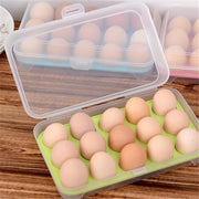 Stenzhorn Square Shaped Home Organizer Stacked Refrigerator Egg Storage Box 12 Egg Care Kitchen Dust-Proof Food Storage Box