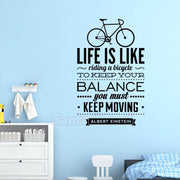 Stickers Einstein Quote Life Likes Biking Wall Decor Wall Art Decal English Verse For Living Room Home Decor Poster Decoration