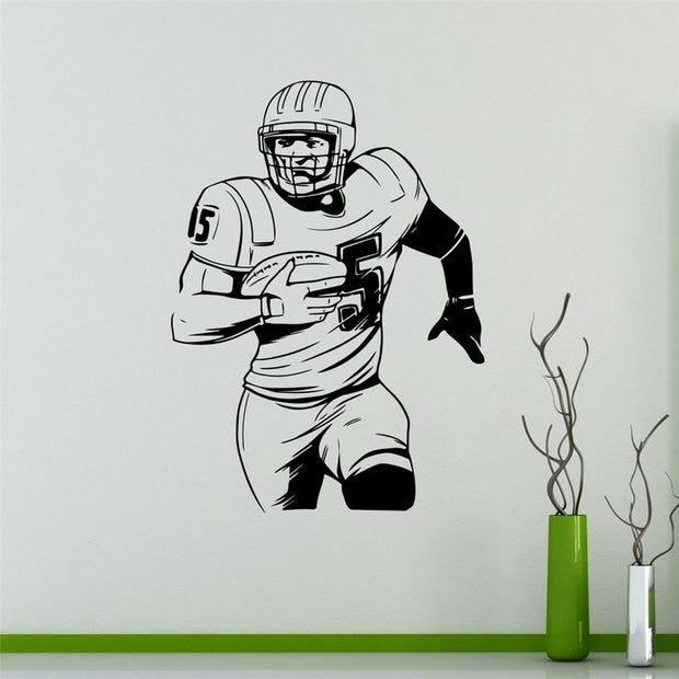 Stickers Wall Sticker American Football Wall Decal Player Vinyl Sticker Extreme Sport Home Interior Housewares Graphics #t412