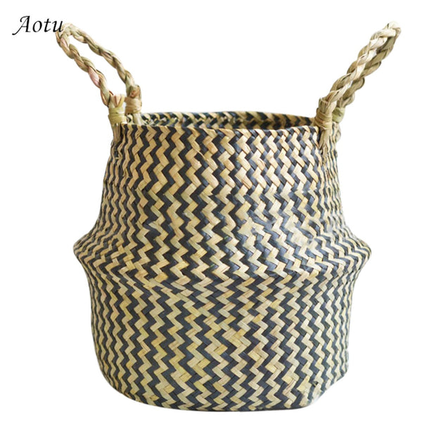 Storage Basket Dirty Laundry Storage Basket Foldable Storage Basket Flower Pot Hanging Flower Pot Home Storage Basket Decoration