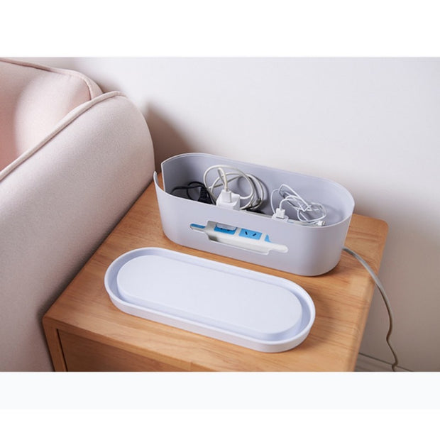 Storage Boxes & Bins Wire Socket Storage Box Gray White Home Storage & Organization Phone Holder For Small Power Strips Surge