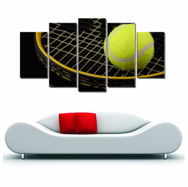 . Tennis Ball And Tennis Racket Wall Art Canvas Painting For Kids Bedroom  Wall Decor Sport Art Wall Home Decorations Dropshipping