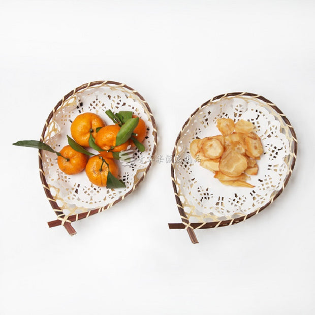The Characteristics Of Tea Cakes Crafts Bamboo Basket Snack Fruit Basket Shooting Props Kindergarten Decorative Bamboo Tableware