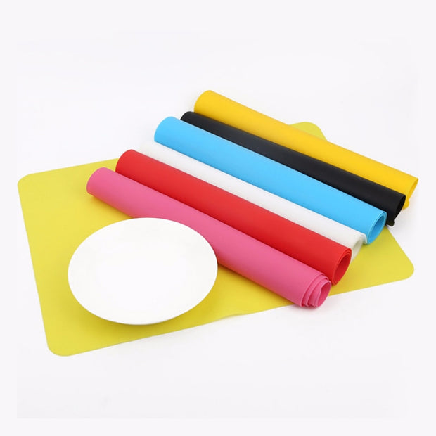 Thick Waterproof Silicone Placemat Baking Insulation Pad Desk Mat Student Children Non-slip Table Mat Anti-slip Mat