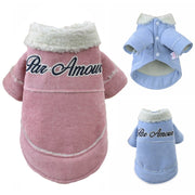 Thicken Dog Jacket Dog Clothes For Small Dogs Pet Coat Warm Winter Puppy Clothing Yorkies Chihuahua Corduroy Clothes