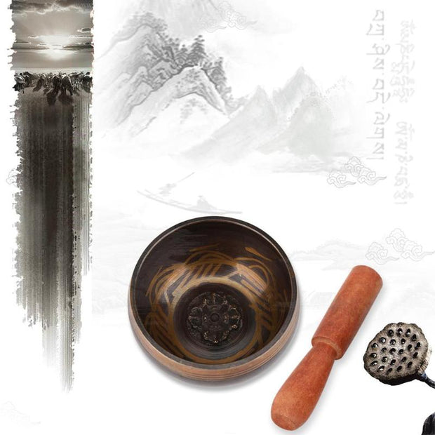 Tibetan Singing Bowl Decorative-wall-dishes Decorative Sacrifice Sacred Dharma Monks Lama Religion Carft Home Decoration Bowls
