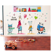 "Tofok Cartoon Giraffe Animals Wall Stickers ""Sweet Dream""Home Decoration Wall Sticker Children Room Students' Dormitory Nursery"