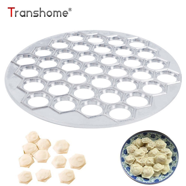 Transhome 37 Holes Dumpling Mold Tools Dumplings Maker Ravioli Aluminum Mold Dumplings Kitchen DIY Tools Pastry Maker Wholesale