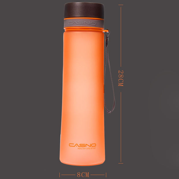 Transhome Sport Water Bottle 1000ML Creative Leak Proof Plastic Shaker Bottle With Tea Infuser And Rope For Cycling Travel Sport