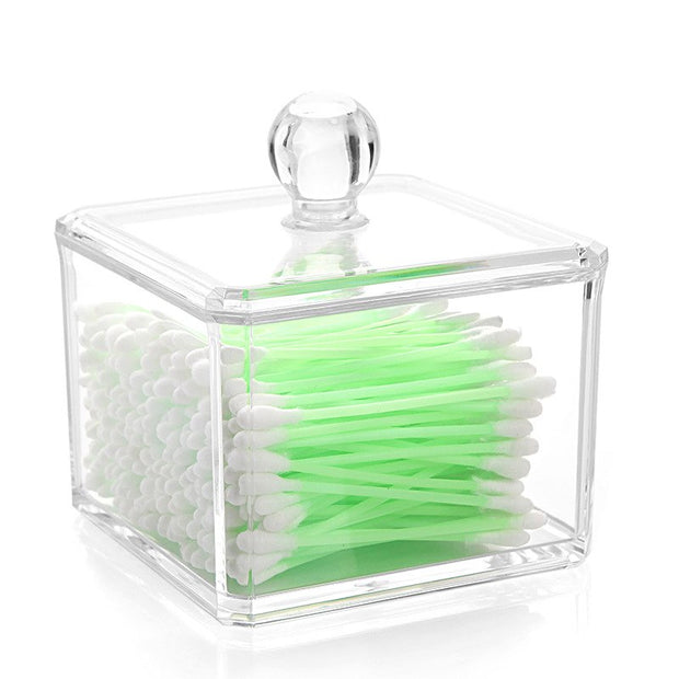Transparent Crystal Cotton Swab Box Cosmetic Box Cosmetic Cotton Sundries Storage Box 5D