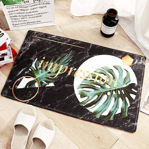Tropical Print Doormat Flannel Entrance Rug Floor Mats Shoe Scraper Doormat Non Slip Entrance Way Floor Mat For Indoor Outdoor H