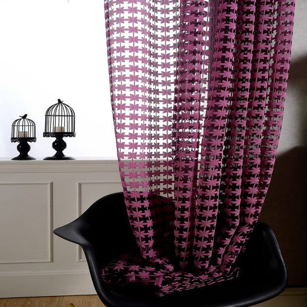 Tulle Curtain Fashion Window Screen Blinds Sheer Voile Gauze Curtain Cafe Kitchen Curtain Living Room Balcony