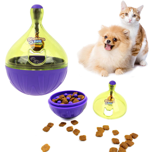 Tumbler Pet Dog Drinking Fountains Water Drop Feeding Large Plastic Cat Toy Food Dog Feeders Teddy Cat Is Drinking Pet Supplies