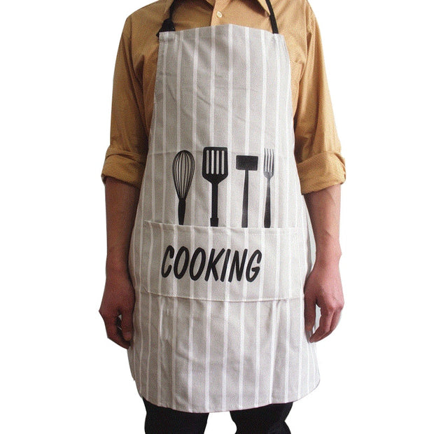 Unisex Kitchen Apron Half Length Polyester Apron Waiter Chef Pinafore Kitchen Cooking Baking Coffee Shop Sleeveless 7A0927