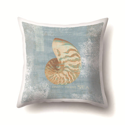 Vintage Simple Pillowcase Sketch Shell Conch Starfish Pillow Cover Throw Pillowcases 45*45cm Christmas Gifts