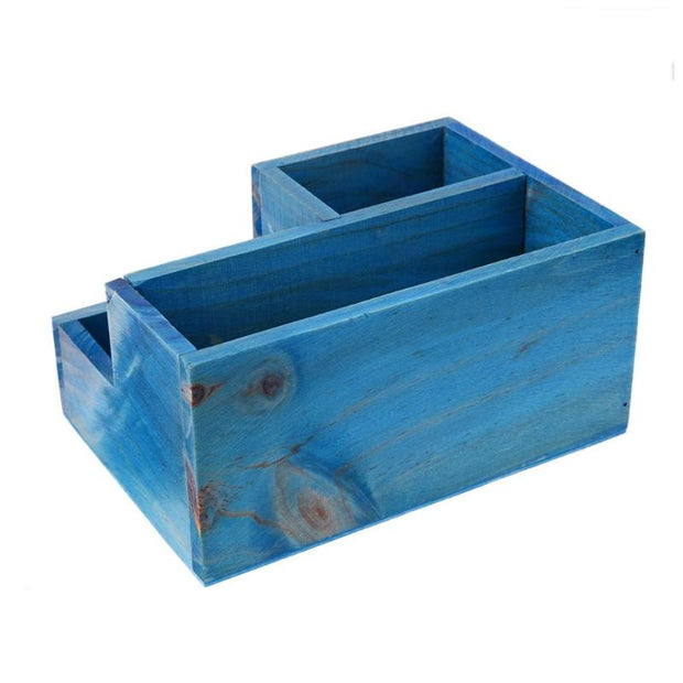 Vintage Wooden Flowerpot Desk Box Retro Fleshy Succulent Planting Storage Box Table Creative DIY Flower Pot E5M1
