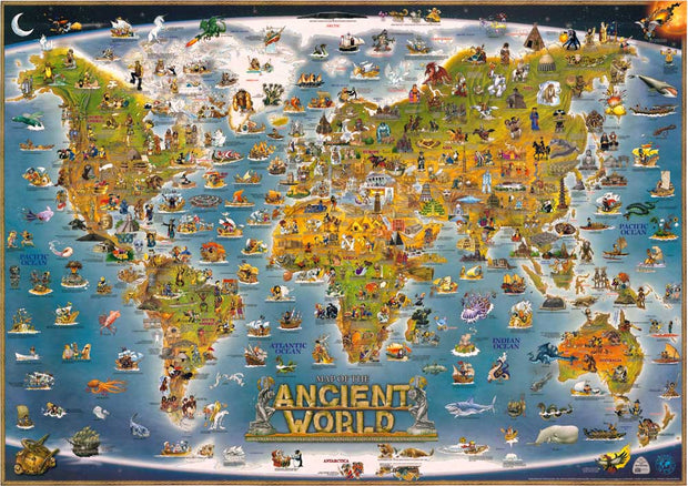 "Vintage ""ancient World Map""Oil Painting Canvas Oil Pictures Decorative Painting Wall Art Craft No Frame For Home Decor RM-DT-066"