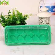 WCIC 3pcs/lot Seedling Tray Sprout Plate 10/15 Cells Nursery Pots Plastic Planting Tray With Lids Gardening Sprout Grow Box Kit
