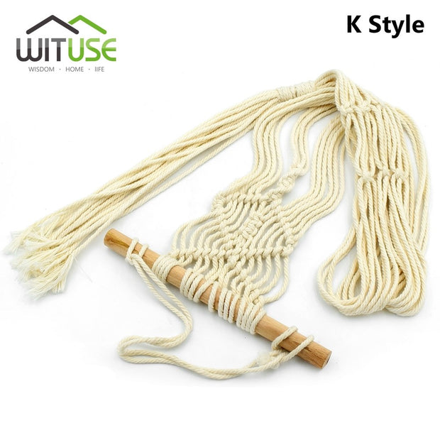 WITUSE Cheap! 3 Style 5 Legs Macrame Plant Hanger Wall Art Indoor Outdoor Use Elegant Bohimian Home Decor Flower Pot Holder