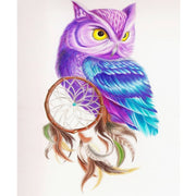 Wall Decor Painting FULL Square DIY Diamond Embroidery Painting Cross Stitch Mosaic Pattern Gifts 5D Cartoon Owl & Dreamcatcher