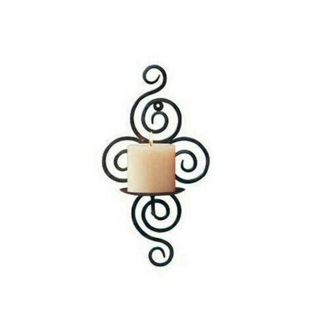 Wall Hanging Iron Candle Holder Sconce Furnishing Articles Candlestick Holder For Wedding Party Decoration (18 X 12 X 38 Cm)