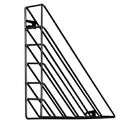 Wall Mount File Holder Triangle Iron Magazine Organizer For Office Home Storage Shelf Letter Sorter Metal Wired Bookend