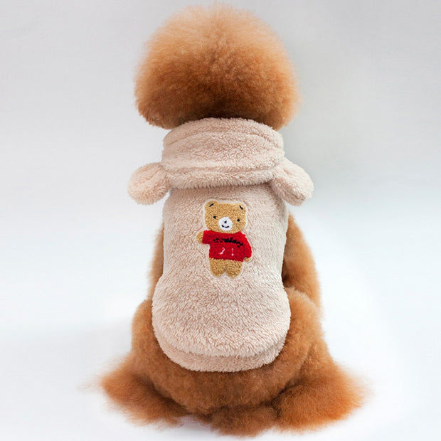 Warm Pet Dog Winter Clothes Dogs Pets Fleece Clothing For Small Dogs Costume Chihuahua Outfit Dog Puppy Cat Hoodies Clothes