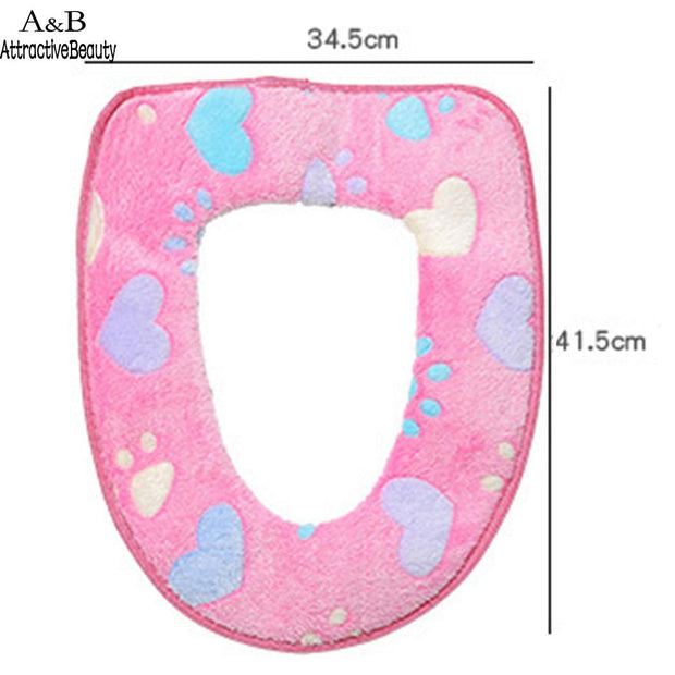 Washable Bathroom New Warmer Soft Toilet Closestool Seat Cover Lid Mat Cushion Pad