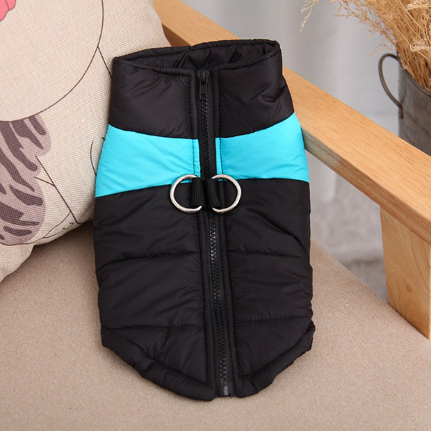 Waterproof Pet Dog Puppy Vest Jacket Chihuahua Cotton Clothing Warm Winter Dog Clothes Coat For Small Medium Large Dogs 4 Colors
