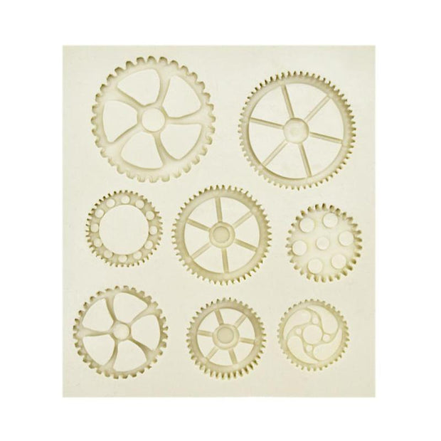 White Gear Clocks DIY Silicone Mold Chocolate Fondant Cake Baking Mould