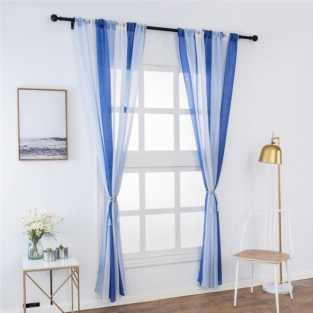 Window Curtain Stripe 100x200cm Tulle Voile Fashion For Home Kitchen Room Bedroom XHC88