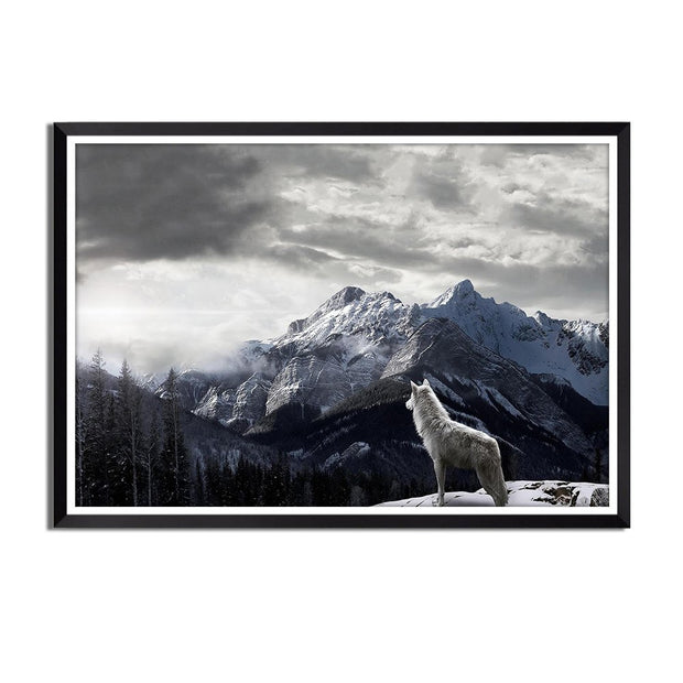 Wolf Canvas Painting Landscape Wall Art Picture Painting Canvas Unframed Picture Wall Artist Home Decoration