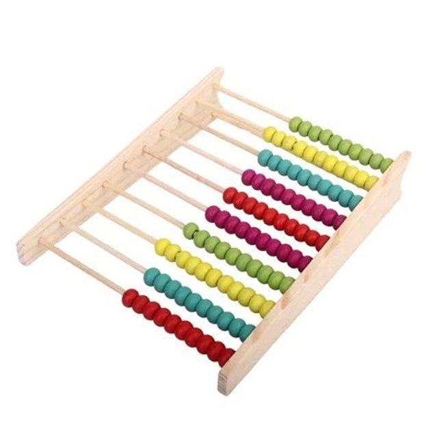 Wooden Abacus 100 Beads Counting Number Preschool Kid Learns Math Educationa Toy