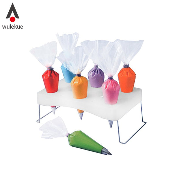 Wulekue Cream Piping Bag Shelf Decorating Bags Holder Stand Cake Decorating Pastry Bags Placing Rack Baking Accessories