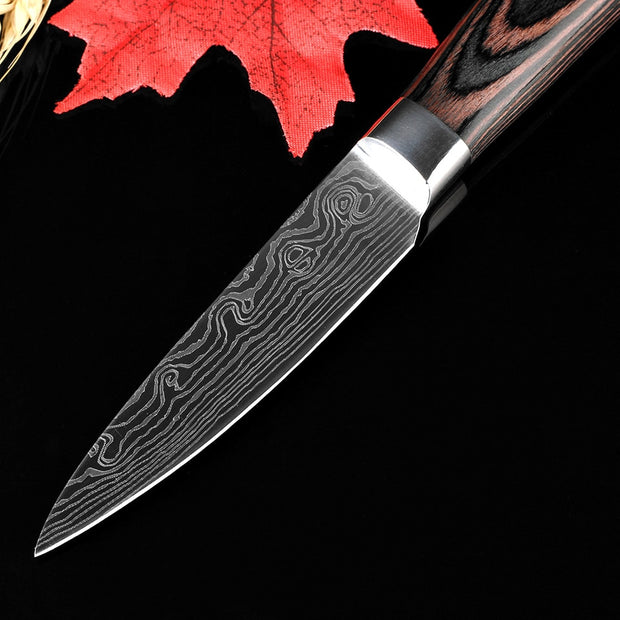 XITUO 3.5inch Utility Paring Knife Pretty Pattern Steel Very Sharp Fruit Knife Kitchen Life Tools Color Wood Handle FREE SHIPPIN
