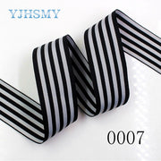 YJHSMY C-171230-0322-234,38 Mm 10yard Two-color Double-sided Thermal Transfer Printed Grosgrain Wedding Accessories DIY Material