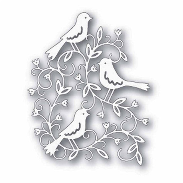 YaMinSanNiO Bird Flower Cutting Dies For Diy Scrapbooking Card Making Album Embossing Crafts Diecut Stencil Mat Christmas