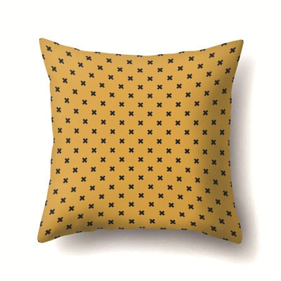 Yellow And Black Strip Square Throw Pillow Case Simple Polyester 45*45cm Pillowcase For Living Room Bedroom