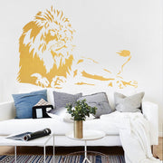 ZN G226 Safari African Lion Creative Vinyl Wall Art Sticker Room Decorative Detachable Animal Stickers Bedroom Home Decor