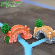 ZOCDOU 2 Pieces Rainbow Arch Bridge Turkey Beautiful Road Home Garden Model Small Figurine Crafts Figure Ornament Miniatures DIY