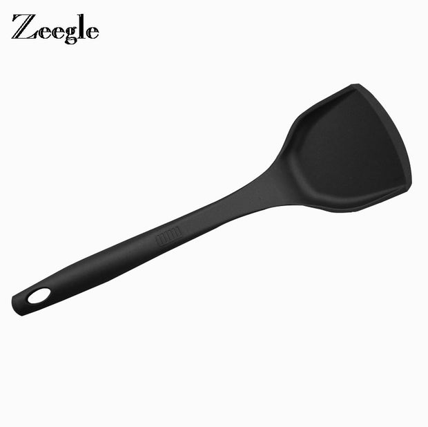 Zeegle Nonstick Scoops Silicone Turners Pot Shovel Cooking Spatula Fried Shovel Flexible Silicone Frying Pan Turner Spatula