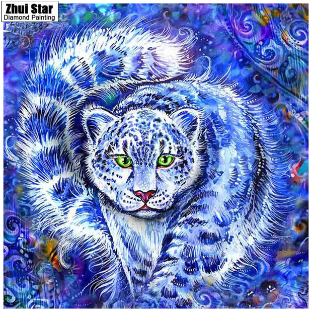 Zhui Star 5D Full Diamond Painting Diy Diamond Painting Embroidery Cross Stitch Home Decor Dimond Leopard Head Gift Gx