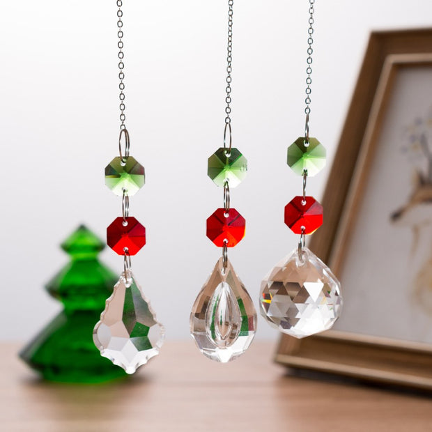 Christmas Decorations For Home Xmas Tree Chandeliers Bird Red Green Ornament Pendant For Xmas Festival Party Garden