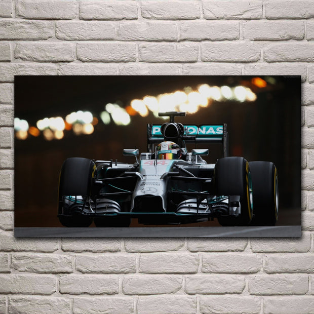 Cool Super F1 Racing Car Specs Living Room Decor Home Wall Art Decor Wood Frame Fabric Poster KG871