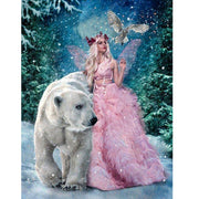 Diamond Embroidery Fairy&bear 5d Diamond Painting Bear Full Diamond Mosaic 3d Picture Of Rhinestones Cross-stitch Christmas Gift