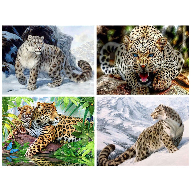 Leopard Diamond Painting Diamond Embroidery 5d Diy Full Square Animals Diamond Mosaic Buddha Pictures Of Rhinestones