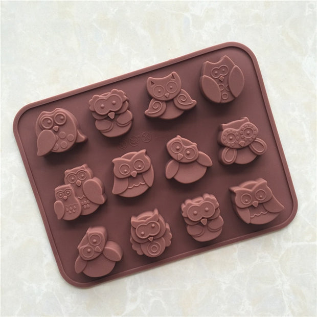 Owl Silica Gel Cake Chocolate Mold Soap Making Mold Candle Mould