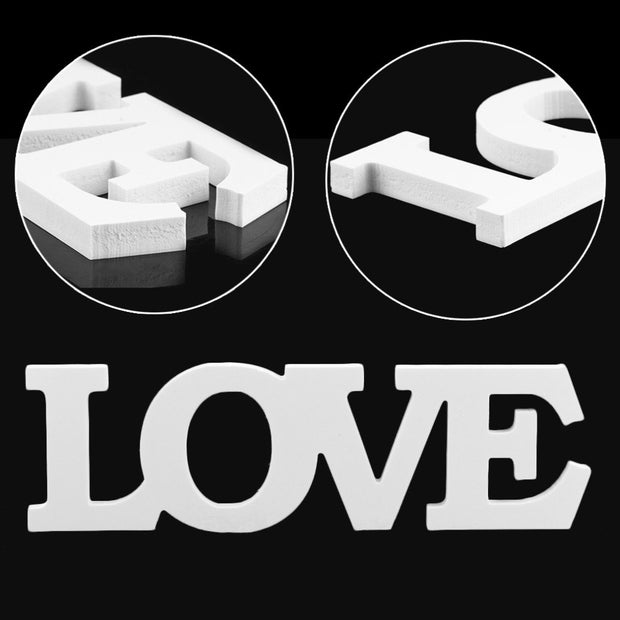 Special Wedding Decorations LOVE Letter Wooden White Wood Alphabet Decoration Romantic Mariage Birthday Party Decoration 33cm