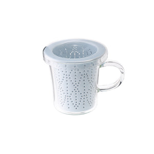 Weave Mug with Porcelain Infuser Indigo